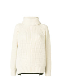 Sacai Two Tone Sweater With Removable Collar