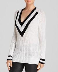 Aqua Sweater Varsity Stripe