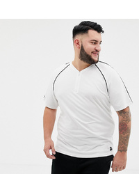 ONLY & SONS T Shirt With Zip Neck In White Pique