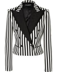 Dolce & Gabbana Cropped Med Striped Cady Blazer