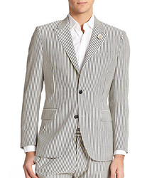 Kent And Curwen Peak Wool Striped Blazer