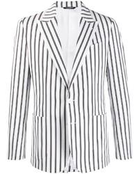 Dolce & Gabbana Single Breasted Striped Blazer