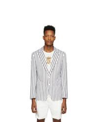Dolce and Gabbana White Striped Blazer