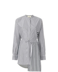 Ports 1961 Asymmetric Striped Shirt