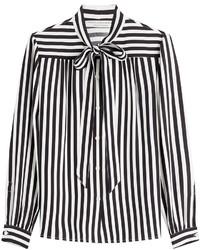 Philosophy di lorenzo serafini striped blouse medium 645615