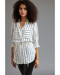 Dynamite Tunic Blouse With Drawstring