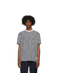 Thom Browne Navy And White Rwb Bold Stripe T Shirt