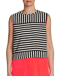 Saks fifth avenue red striped crop top medium 71439