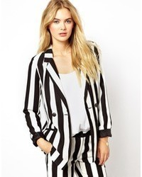 Stripe blazer jacket medium 25512