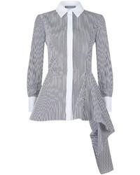 Alexander McQueen Asymmetric Point Collar Shirt