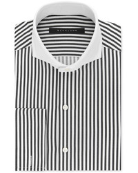 Sean John Black And White Stripe Dress Shirt