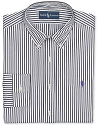 Polo Ralph Lauren Black And White Stripe Dress Shirt