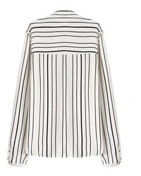 871a43cc24f795 ... ChicNova Black White Stripes Long Sleeves Blouse ...