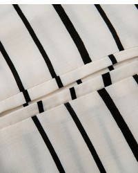 c3029d1cc066c4 ... ChicNova Black White Stripes Long Sleeves Blouse