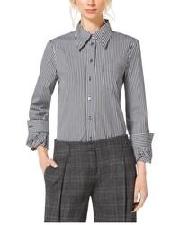 Michael Kors Michl Kors Striped Cotton Poplin Twist Cuff Shirt
