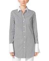 Michael Kors Michl Kors Striped French Cuff Cotton Poplin Shirt