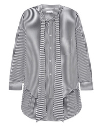 Balenciaga New Swing Striped Cotton Poplin Shirt