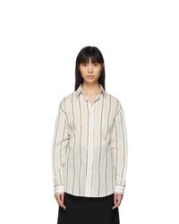 Maison Margiela Off White Striped Shirt