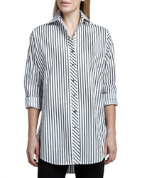 Striped big shirt medium 129345