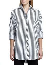 Go Silk Striped Big Shirt