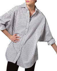 Striped big shirt petite medium 129346