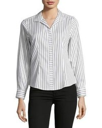 Striped cotton button down shirt medium 6860797