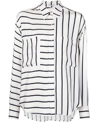 Striped panel shirt medium 369326