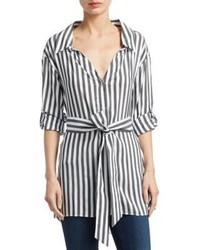 Tate stripe casual button down shirt medium 6860798