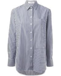 Victoria Beckham Denim Striped Shirt