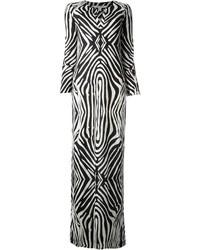 Diane von furstenberg zebra print dress medium 36610