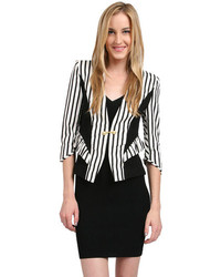 Stella and jamie banda jacket in white stripe medium 110888