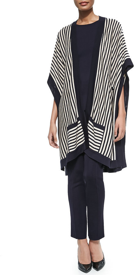 Misook Striped Open Kimono Cardigan | Where to buy & how to wear