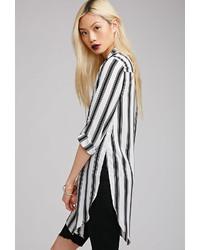 Side slit striped blouse medium 162466