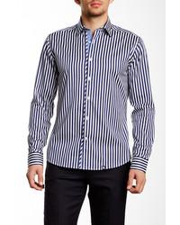 Long sleeve woven stripe shirt medium 279361