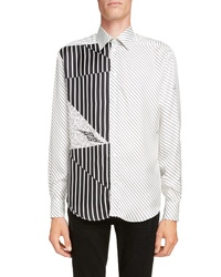 Givenchy Mixed Stripe Silk Shirt