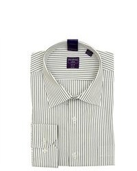 Modena white striped cotton dress shirt medium 83153