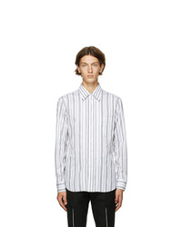 Alexander McQueen White And Black Bold Stripe Shirt