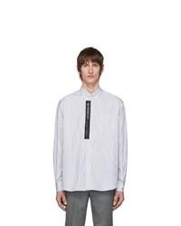 Givenchy White And Black Striped Logo Shirt