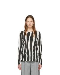 Proenza Schouler Black And White Printed Zebra T Shirt