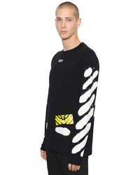 5370761ab Off-White Spray Stripes Long Sleeve Jersey T Shirt, $318 ...