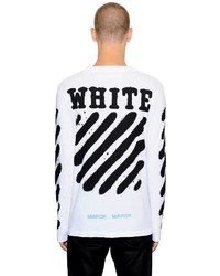 Off-White Spray Stripes Long Sleeve Jersey T Shirt