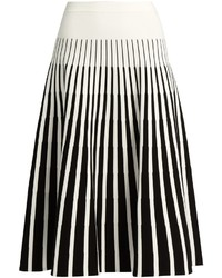 Stripe intarsia fluted skirt medium 862766