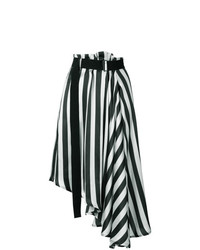Ann Demeulemeester Striped Asymmetric Skirt