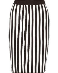 A.L.C. Jake Striped Stretch Knit Pencil Skirt