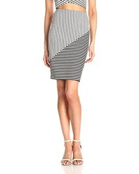 Rebecca Minkoff Jill Striped Jersey Pencil Skirt