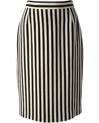 Gianfranco Ferre Vintage Striped Pencil Skirt