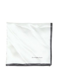 Ermenegildo Zegna Printed Silk Pocket Square
