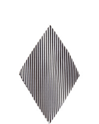 Homme Plissé Issey Miyake White And Black Pleats Chief 1 Pocket Square