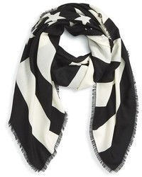 Givenchy American Flag Wool Silk Scarf
