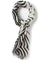 Marc by Marc Jacobs Wavy Striped Print Scarf